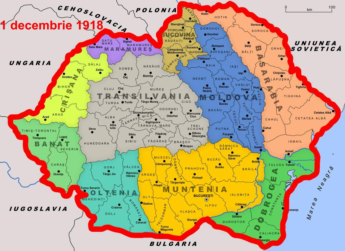 Harta Romaniei Romania Cu Ardealul Copy Impact Est Nr 814
